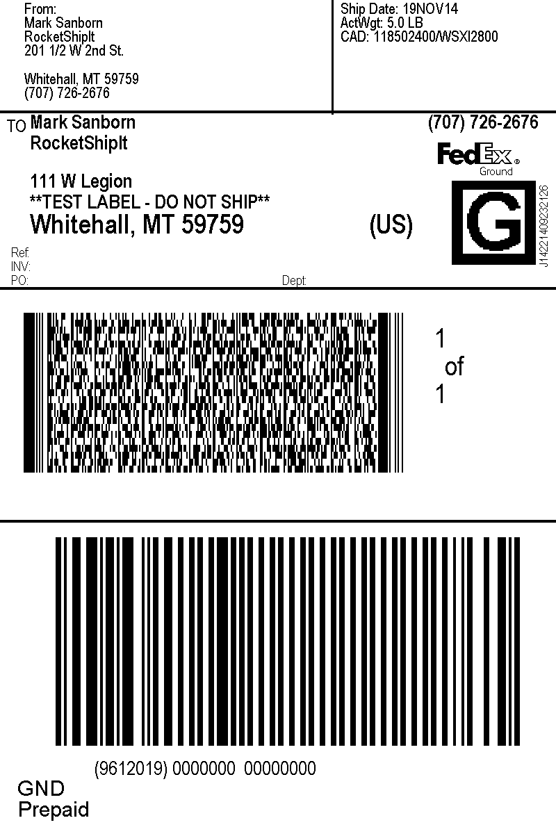 FedEx PNG Shipping Label